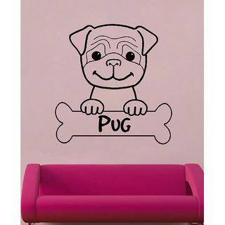 Decor Villa Pug Wall Decal & Sticker