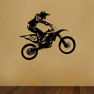 Decor Villa Fly Bicycle Wall Decal & Sticker