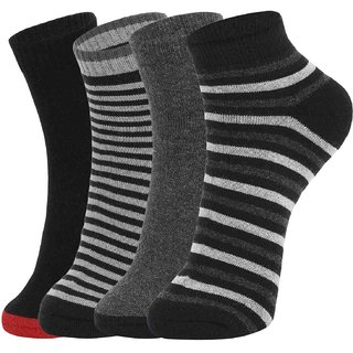 DUKK Multi Pack Of 4 Ankle Socks