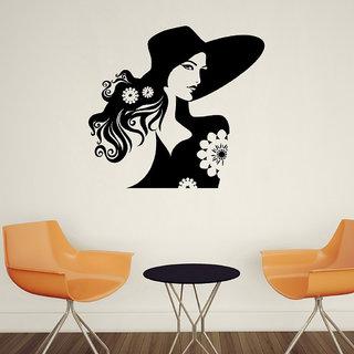 Decor Villa Girl With Flower Wall Decal & Sticker