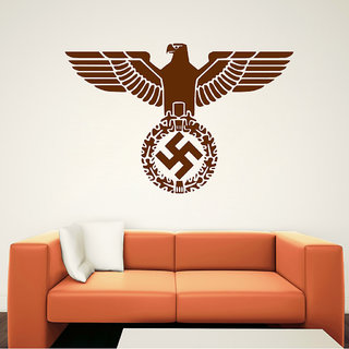 Decor Villa Eagle With Swastik Wall Decal & Sticker