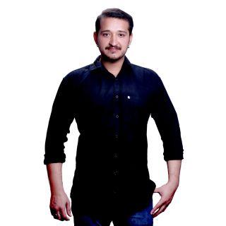 LC Slimfit Plain Black Casual Shirt