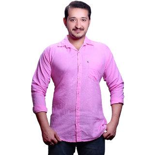 New Democratic Men's Pink  Casual Shirt