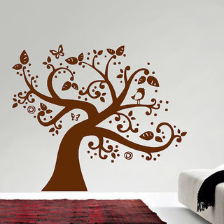Decor Villa Happy Tree Wall Decal & Sticker