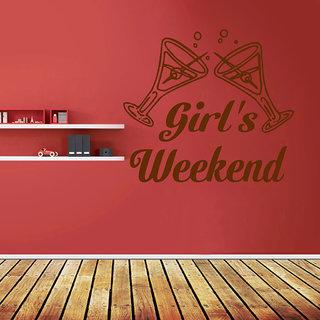 Decor Villa Girl'S Weekend Wall Decal & Sticker