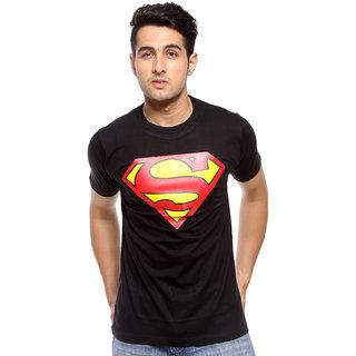 Astyler Men's Black Round Neck T-Shirt