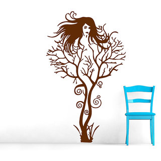 Decor Villa Tree Girl Wall Decal & Sticker