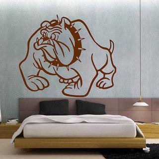Decor Villa Bull Dog Wall Decal & Sticker