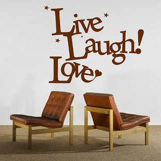Decor Villa Love Laugh Live Wall Decal & Sticker