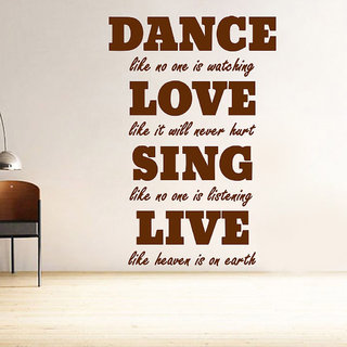 Decor Villa Dance Love Sing Wall Decal & Sticker