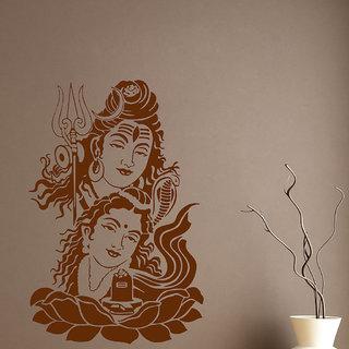 Decor Villa Jai Shiv And Parvati Wall Decal & Sticker