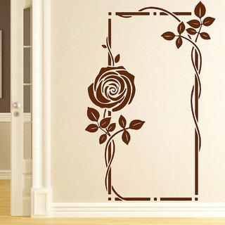Decor Villa Mirror Flower Wall Decal & Sticker
