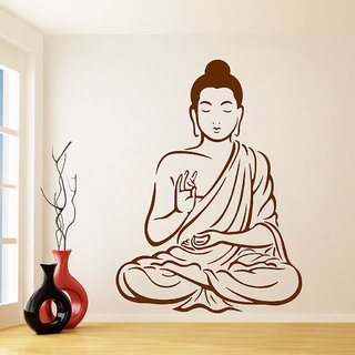 Decor Villa Om Budha Ji Wall Decal & Sticker