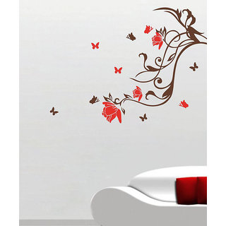 Decor Villa Flowers With Branches Wall Decal & Sticker