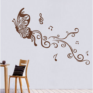 Decor Villa Butterfly With Leves Wall Decal & Sticker