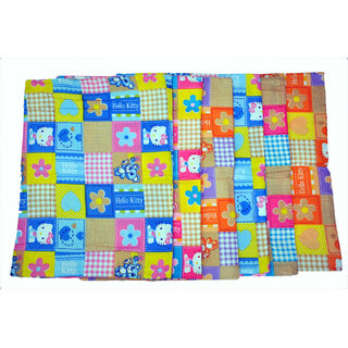 Jhankhi New Born Baby Sleeping Cotton Mat Set of 6 Multi Color
