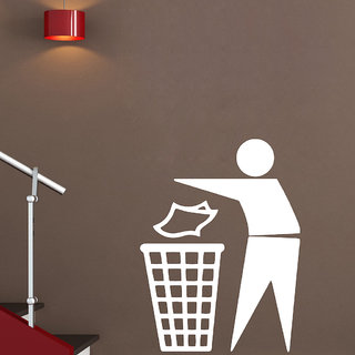 Decor Villa Use Dustbin Wall Decal & Sticker