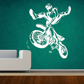 Decor Villa Bike Riding Time Wall Decal & Sticker