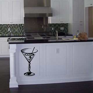 Decor Villa Mordan Juice Gless Kitchen Wall Sticker (17 X 29) Inch