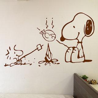 Decor Villa Dog Kitchen Wall Sticker (28 X 17) Inch