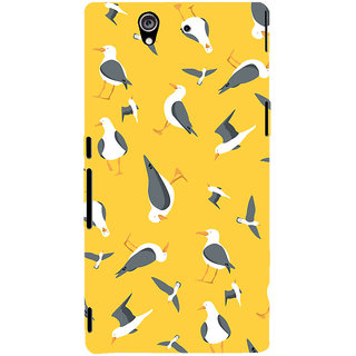 Oyehoye Birds Pattern Style Printed Designer Back Cover For Sony Xperia Z Mobile Phone - Matte Finish Hard Plastic Slim Case