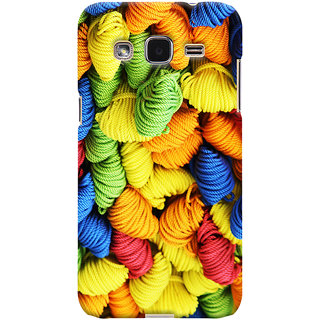 Oyehoye Colourpul Pattern Style Printed Designer Back Cover For Samsung Galaxy J2 Mobile Phone - Matte Finish Hard Plastic Slim Case