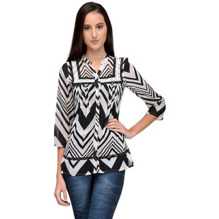 Tunic Nation Women's V-Neck Printed Top