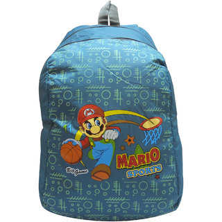 Donex Light Weight Mario School Backpack For Kids 4-6 Years Blue 14