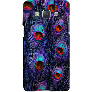 Oyehoye Peacock Feather Pattern Style Printed Designer Back Cover For Samsung Galaxy A5 (2015) Mobile Phone - Matte Finish Hard Plastic Slim Case