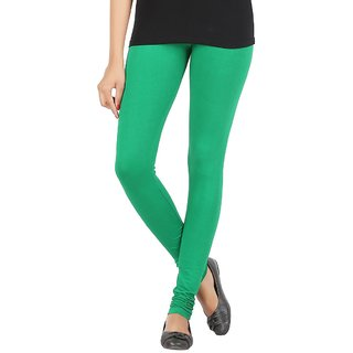 Elance Leggings Green Cotton Lycra Leggins