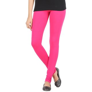Elance Leggings Pink Cotton Lycra Leggins