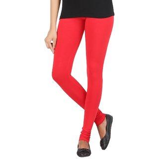 Elance Leggings Red Cotton Lycra Leggins