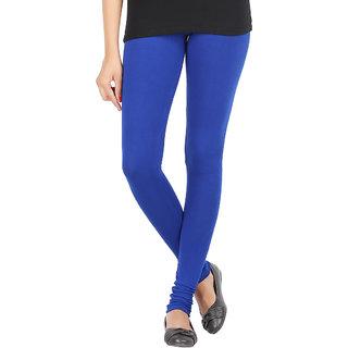 Elance Leggings Blue Cotton Lycra Leggins