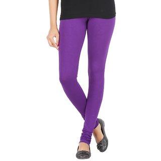 Elance Leggings Purple Cotton Lycra Leggins