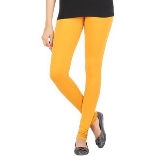Elance Leggings Yellow Cotton Lycra Leggins