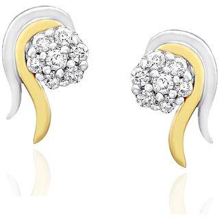 Nirvana Diamond Earrings NERC742SI-JK18Y