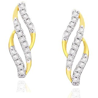 Beautiful sparkling diamond  Earrings ADE01252SI-JK18Y