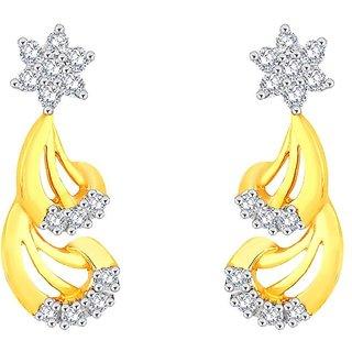 Beautiful sparkling diamond  Earrings DDE02028SI-JK18Y