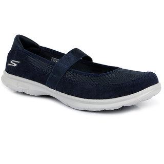 Skechers Mens Navy Slip on Smart Casuals Shoes