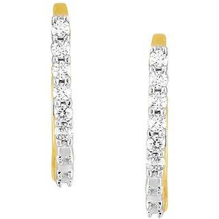 Beautiful sparkling diamond  Earrings EE341SI-JK18Y