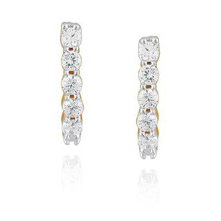 Beautiful sparkling diamond  Earrings EE388SI-JK18Y