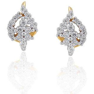 Beautiful sparkling diamond  Earrings EE602SI-JK18Y