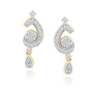 Beautiful sparkling diamond  Earrings GWTE0007SI-JK18Y