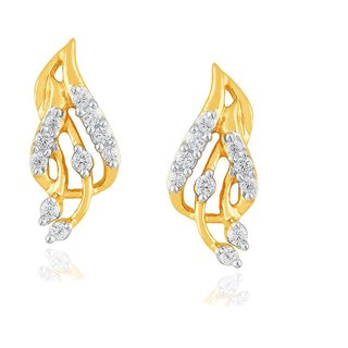 Beautiful sparkling diamond  Earrings PE13015SI-JK18Y