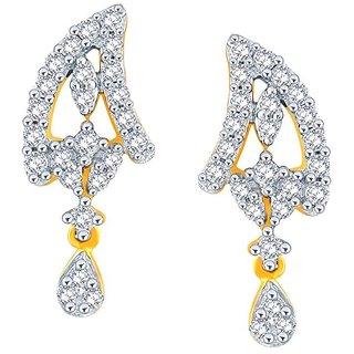 Beautiful sparkling diamond  Earrings PE21720SI-JK18Y