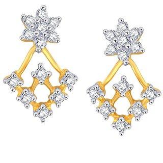 Beautiful sparkling diamond  Earrings PE25417SI-JK18Y
