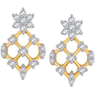 Beautiful sparkling diamond  Earrings PE25420SI-JK18Y
