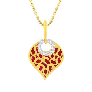 Beautiful sparkling diamond  Pendant VDP00057SI-JK18Y