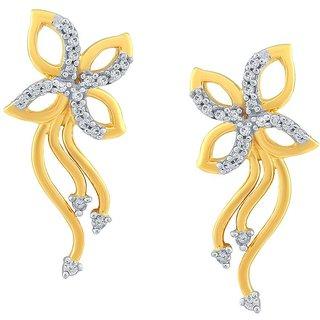 Beautiful sparkling diamond  Earrings ADE00548SI-JK18Y