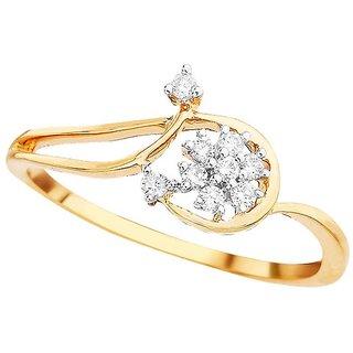 Beautiful sparkling diamond  Ring DDR03770SI-JK18Y
